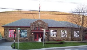 front entrance of the Brattleboro Museum and Art Center