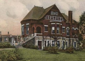 Drawing of the Lilly Library, c. 1911